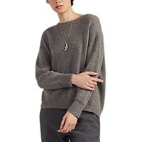Pas De Calais Camel Hair Crewneck Sweater Gray