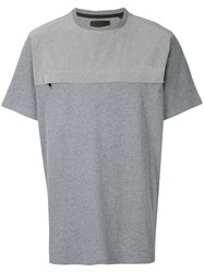 Blood Brother Chest Zip T Shirt Grey