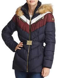 Vince Camuto Puffer Jacket Navy Red