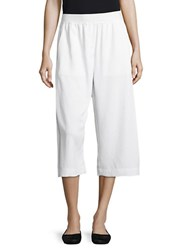 Dkny Relaxed Fit Cropped Pants White