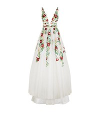 Jovani Floral Embroidered Ball Gown Female White