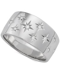 Marchesa Diamond Star Wedding Band 1 6 Ct. T.W. In 18K White Gold Gold Or Rose Gold Created For Macy's