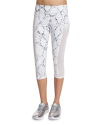 Varley Vincent Python Printed Cropped Sport Leggings Women's Size Medium 6 8 Python