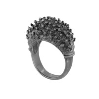 Solomeina Hedgehog In The Fog Ring Black Rhodium
