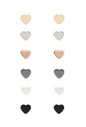 Forever 21 Heart Shaped Stud Set Gold Silver