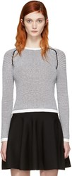 Carven Black And White Knit Sweater