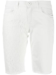 Mr And Mrs Italy Embroidered Detail Knee Length Shorts 60