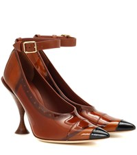 Burberry Patent Leather Pumps Brown