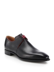 Corthay Arca Leather Derby Shoes Black