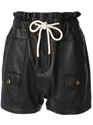 Bassike High Waisted Utility Shorts Black