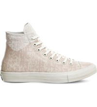 Converse All Star Patterned Canvas Trainers White Translucent