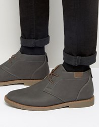 New Look Desert Boots In Grey Mid Grey