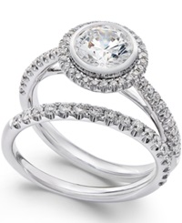 Macy's Certified Diamond Bridal Set In Platinum 1 3 4 Ct. T.W.
