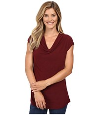 B Collection By Bobeau Sharon Cowl Neck Knit Wine Women's Clothing Burgundy
