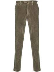 Pt01 Slim Fit Trousers Green