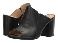 Hush Puppies Sayer Malia Black Leather Women's Wedge Shoes