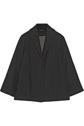 The Row Rayton Cotton And Wool Blend Coat Black