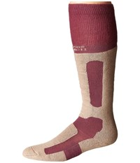 Thorlos Performance Fit Snowboard Damson Buff Crew Cut Socks Shoes Brown