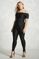 Forever 21 Plus Size Sheeny Jumpsuit