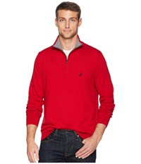 Nautica 12 Gauge 1 4 Zip Sweater Red