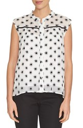 Women's Cece By Cynthia Steffe Floral Embroidered Sleeveless Blouse