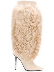 Tom Ford Shearling Boots Nude And Neutrals