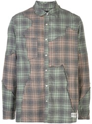 Mostly Heard Rarely Seen Cut Me Up Plaid Shirt 60