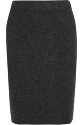Madewell Ribbed Knit Skirt Charcoal