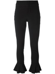 Isabel Marant Kick Flare Soft Trousers Black
