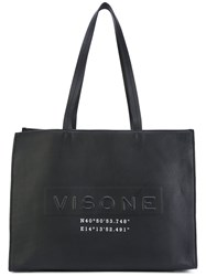 Visone Amanda Shopping Tote Women Leather One Size Black