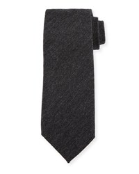 Tom Ford Solid Wool Tie Charcoal