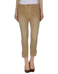 Closed Casual Pants Sand