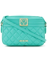 Love Moschino Quilted Cross Body Bag Women Polyurethane One Size Green