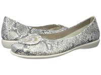 The Flexx Bon Bon Platino Cricket Vip Gold Tris Women's Flat Shoes Silver