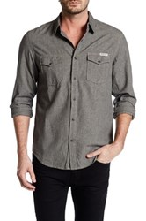 Lucky Brand Grindle Long Sleeve Regular Fit Shirt Black