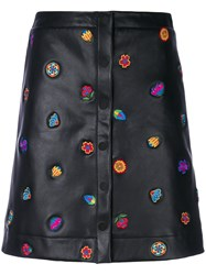 Paul Smith Ps By Embroidered Button Down Skirt Black