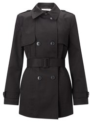 John Lewis Short Trench Coat Black