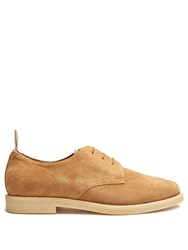 Common Projects Cadet Suede Derby Shoes Tan