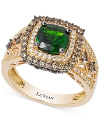 Le Vian Chrome Diopside 1 1 4 Ct. T.W. And Diamond 3 4 Ct. T.W. Ring In 14K Gold Green