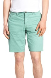 Original Paperbacks Men's 'St. Barts' Raw Edge Shorts Seafoam