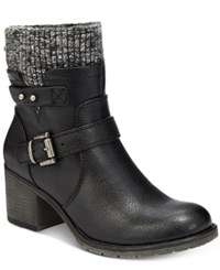 Bare Traps Dover Sweater Booties Women's Shoes Black