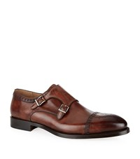 Magnanni Villar Leather Double Monk Male