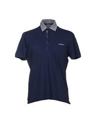 Kangra Cashmere Polo Shirts Blue