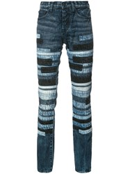 Prps Striped Slim Fit Jeans Blue