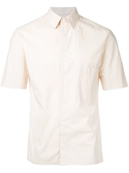 Christophe Lemaire Short Sleeved Shirt Men Cotton 46 Nude Neutrals
