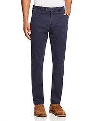 Bloomingdale's The Men's Store At Brushed Cotton Straight Fit Pants True Navy