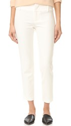Alice Olivia Stacey Fitted Ankle Trousers Off White