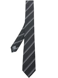 Z Zegna Striped Tie Black