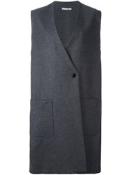 Dusan Oversized Gilet Grey
