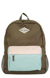 Billabong School's Out Backpack Green Olive